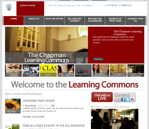 New Learning Commons Site
